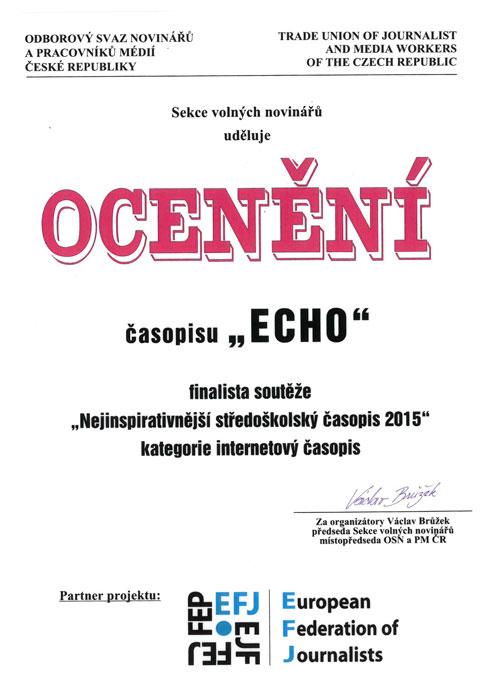 ECHO - ocenění