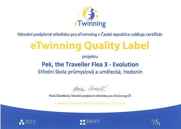 eTwinning Quality Label 2013