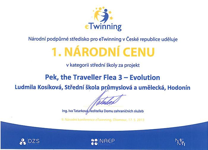 Národní cena eTwinning 2013
